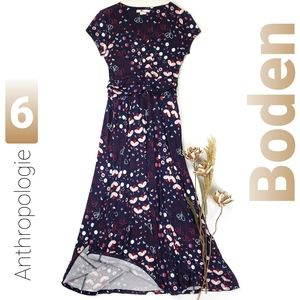 Boden Anthropologie Flowy Floral Viscose Dress 6